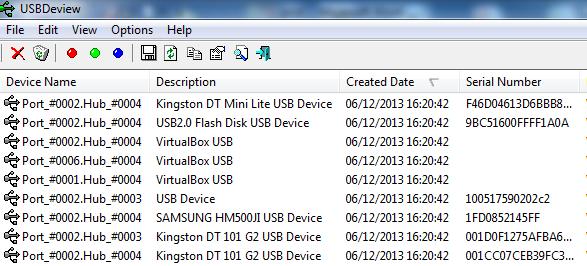 USB Deview